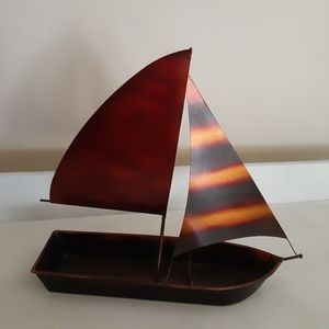 decorative boat in copper color